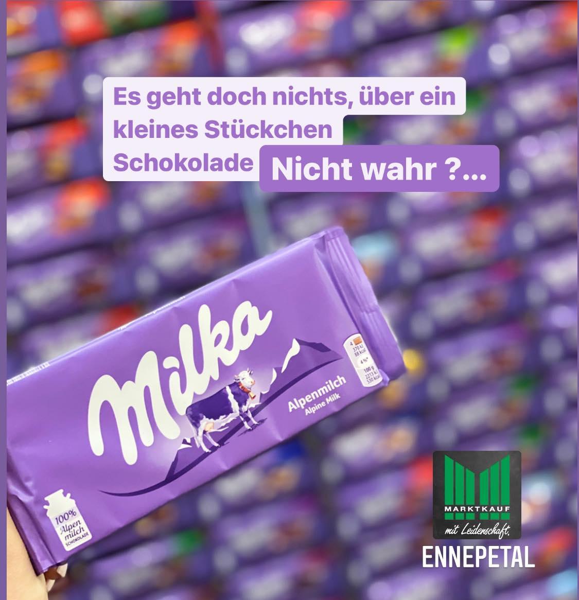 [LOKAL MARKTKAUF ENNEPETAL] Milka - Jede Tafel 0,59€