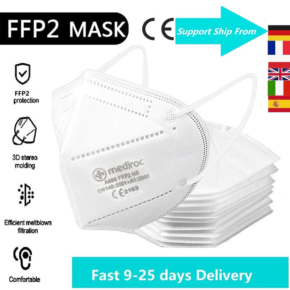 200 stücke FFP2 Masken CE Zertifiziert Gesichts Maske 5 Schichten Filter Versand aus Deutschland