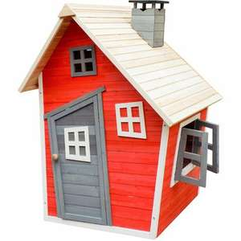 [manomano.de] Wiltec umweltfreundliches Spielhaus für Kinder aus Fichtenholz, Abmessungen 120 x 102 x 154 cm