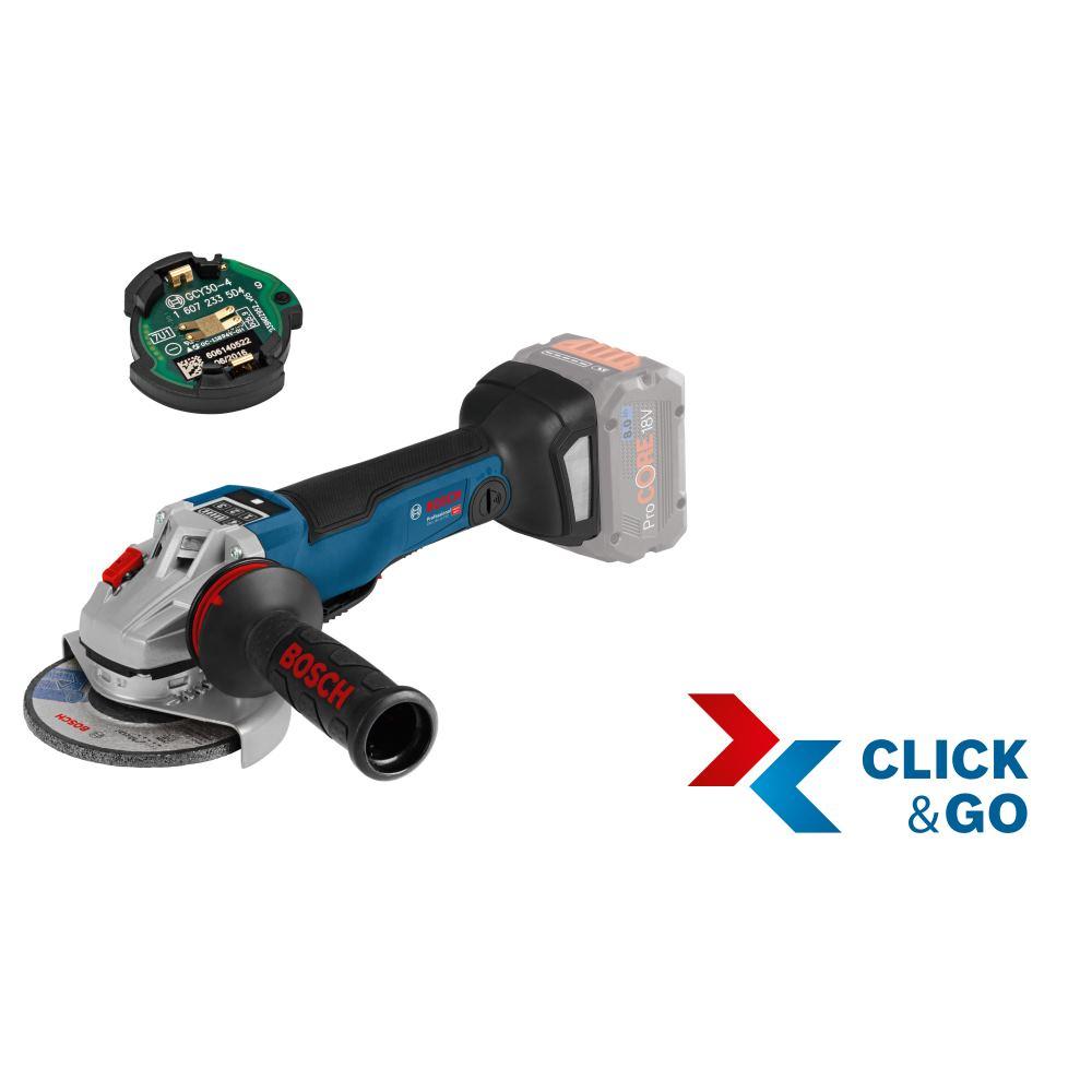 Bosch GWS 18V-10 PSC + GCY Professional L-Boxx Winkelschleifer