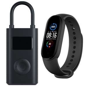 "Xiaomi Mi Band 5: Fitness Tracker (1,1"" Amoled Display, 11 Sportmodi) + Xiaomi Elektrische Luftpumpe (2000mAh Akku, 0.2 - 10.3 Bar)"