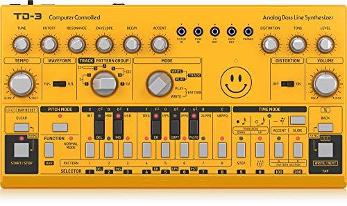 Behringer TD-3-AM Yellow Acid Limited Edition und TD-3-SR (Silber) zum Bestpreis, analoger Bassline Synthesizer [Musikinstrumente]