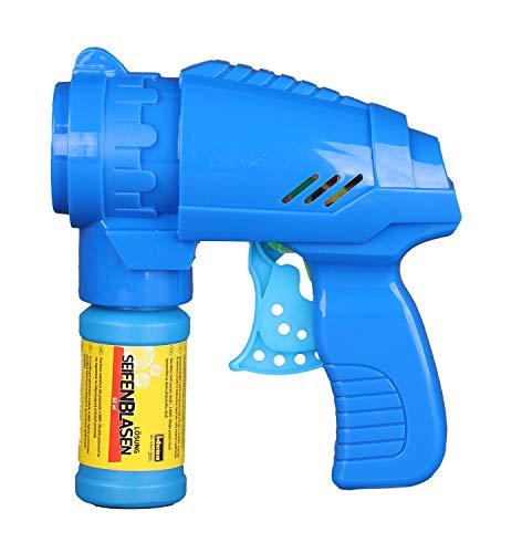 Seifenblasenpistole Blau mit Seifenblasenlösung (Prime)