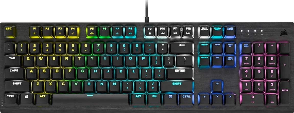 [Computeruniverse]Corsair K60 RGB Pro Cherry MX Low Profile Speed Mechanische Gaming Tastatur, Deutsches Layout [ CH-910D018-DE ]