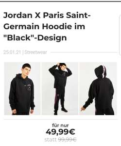 Jordan X Psg Taped Fleece Over The Head - Herren Hoodies