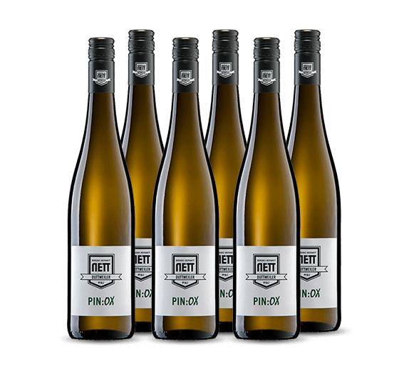 6 Flaschen Weißwein: Bergdolt-Reif & Nett Weißwein-Cuvée PIN:OX 2019 // versandkostenfrei