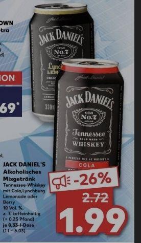 Ab dem 28.01 bei Kaufland: Jack Daniel's Dose - Mixgetränk