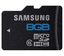 Samsung microSDHC-Karte Essential 8GB Class6 für nur 5,60 inkl. Versand!! [5 Jahre Garantie]
