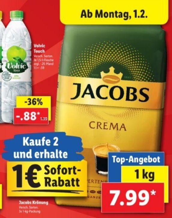 Jacobs Krönung Crema 1 Kg Packung, verschiedene Sorten