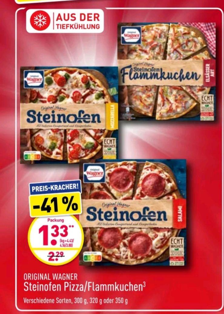 Aldi Nord Original Wagner Steinofen Pizza/Flammkuchen für je 1,33€