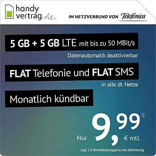 Amazon: Drillisch 10GB Allnet für 9,99€/M (monatlich kündbar) + 6€ AG im Telefonica Netz