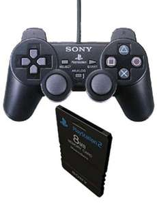 PlayStation 2 Controller + Memory Card