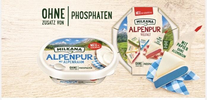 Freebie Milkana Alpenpur durch Cashback Apps for free