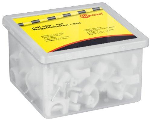 (Prime) Goobay 17084 Kabelschelle für Kabel mit Kabeldurchmesser bis max. 14,0 mm weiß (100 Stück)