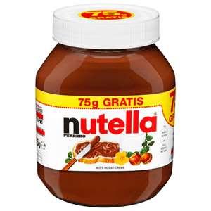 Nutella - 750g + 75g gratis für 2,79€ (3,38€/kg) [Netto MD]