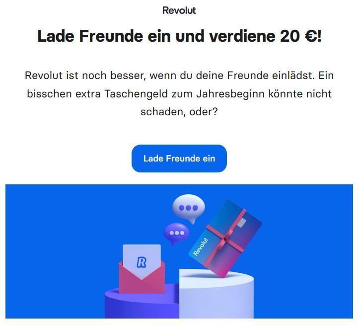 [Revolut] KwK-Aktion bis €30 Prämie für Kundenwerbung - gebührenfreie Kreditkarte mit kostenlosem Auslandseinsatz & ohne Wechselkursspread