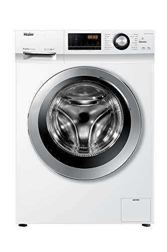 Haier 10KG Waschmaschine mit Dampffunktion Edelstahl / A+++ / 10 kg / 1400 UpM / Inverter Motor / Dampf-Funktion / Vollwasserschutz / ABT
