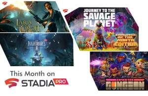 Stadia Pro Februar: Little Nightmares 2, Journey to the Savage Planet, Enter the Gungeon, Lara Croft Guardian of Light