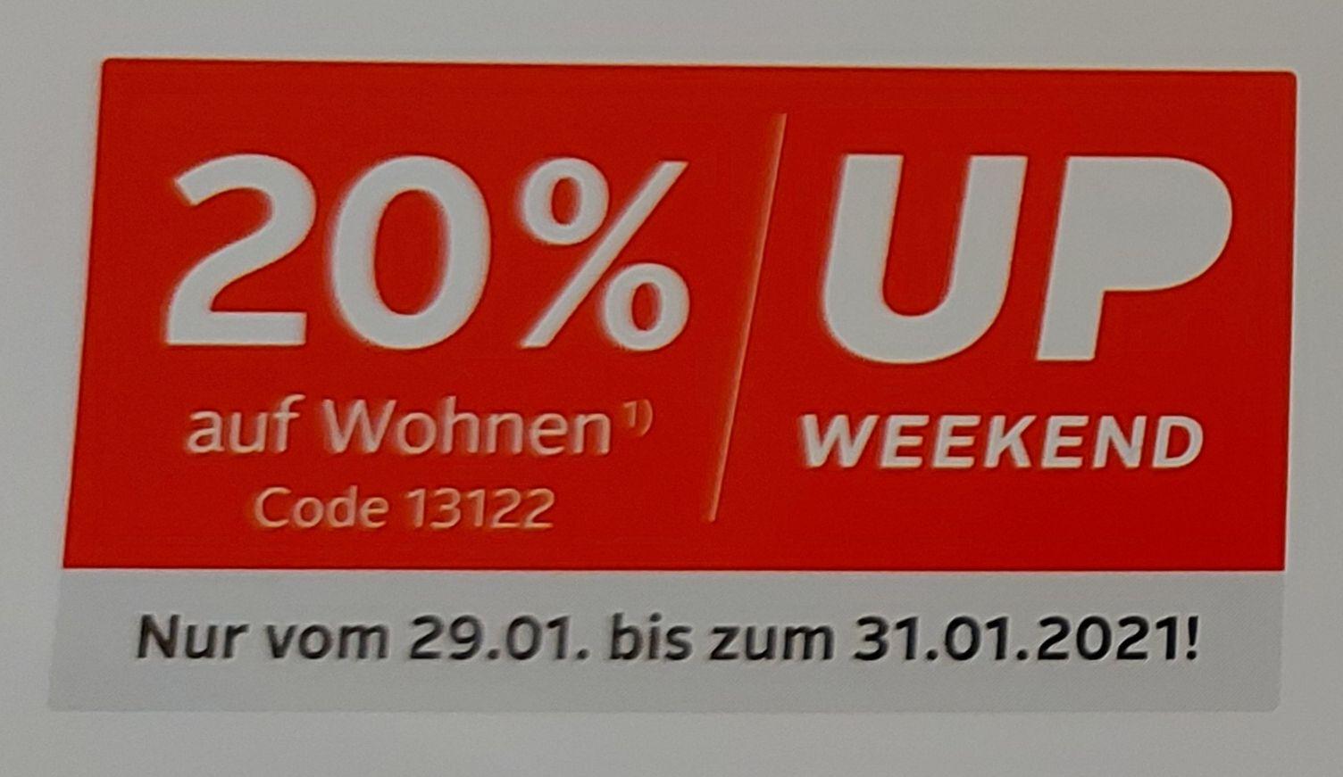 [Otto-Up vom 29.01 bis 31.01] 20% Rabatt auf Möbel - Heimtextilien - Koch,- und Backzubehör - Geschirr und Tischaccessoires und Hue