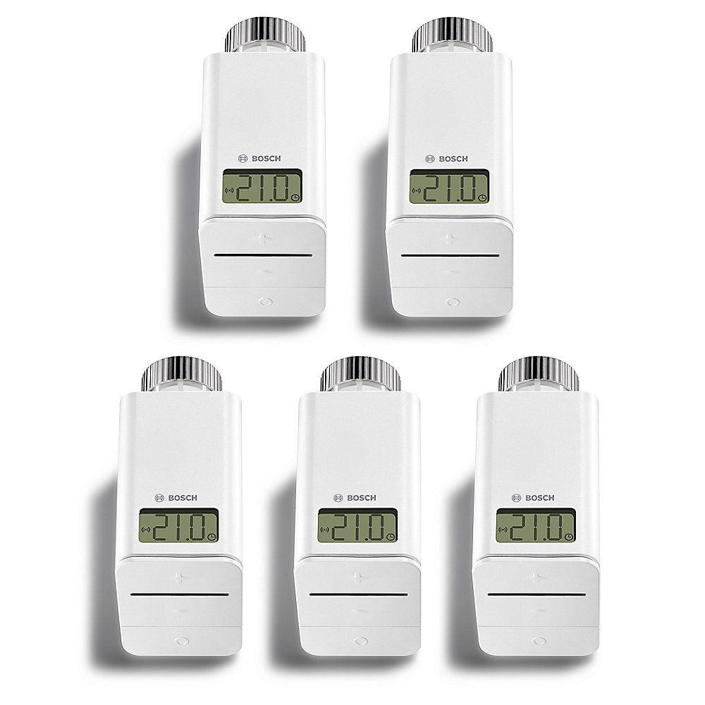 Diverse Bosch Smart Home Produkte, z.B. 5er Pack Thermostat für 35,58/ Stück möglich