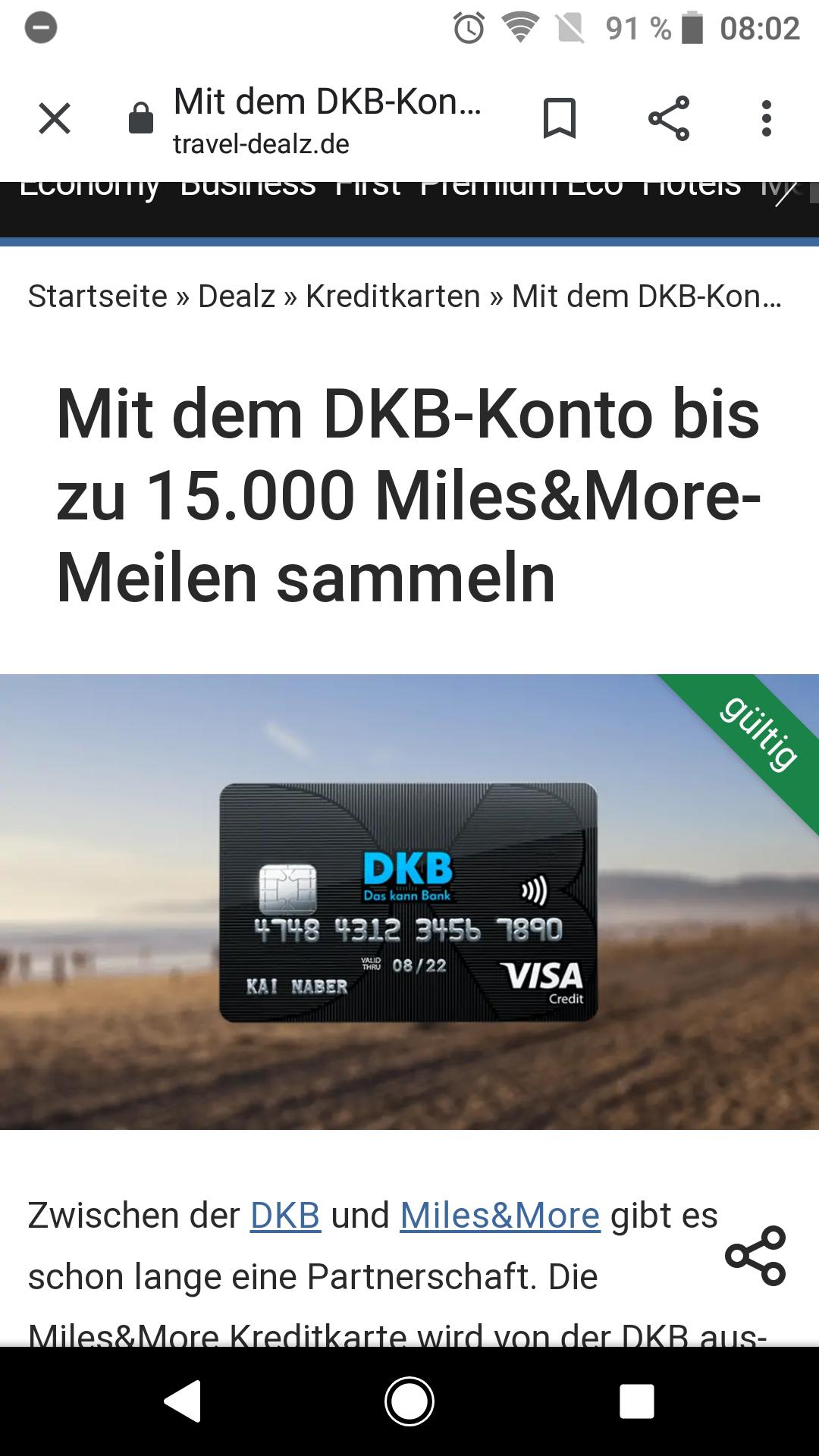 Neukunden Aktion DKB-Konto bis zu 15.000 Miles&More-Meilen sammeln