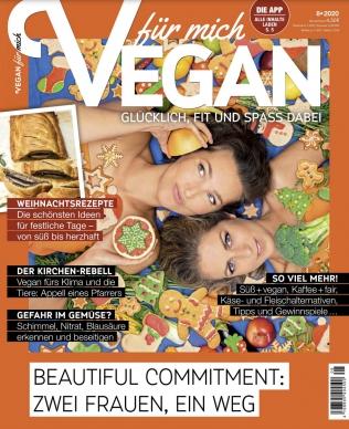 Vegan für mich Abo (8 Ausgaben) durch Rabatt für 9,95 € / oder für 39,20 € mit 35 € BestChoice-/ 30 € Amazon-Gutschein