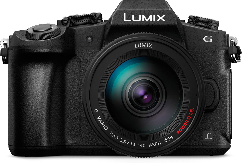 Panasonic DMC-G81 MFT Systemkamera + 14-140mm F3,5-5,6 II OIS (exkl. 50€ Cashback = 704,95€)