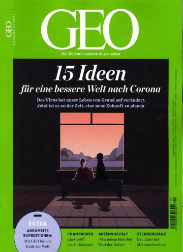 GEO Abo (12 Ausgaben) für 102 € mit einem 70 € Verrechnungsscheck