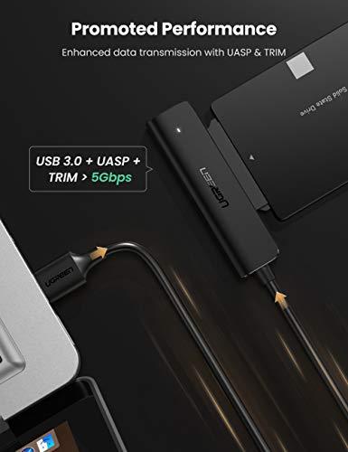"""UGREEN USB 3.0 SATA Adapter für 2,5"""" SSD und HDD (USB zu SATA Kabel, 2.5 Zoll Festplatten Adapter) - mit Prime"""