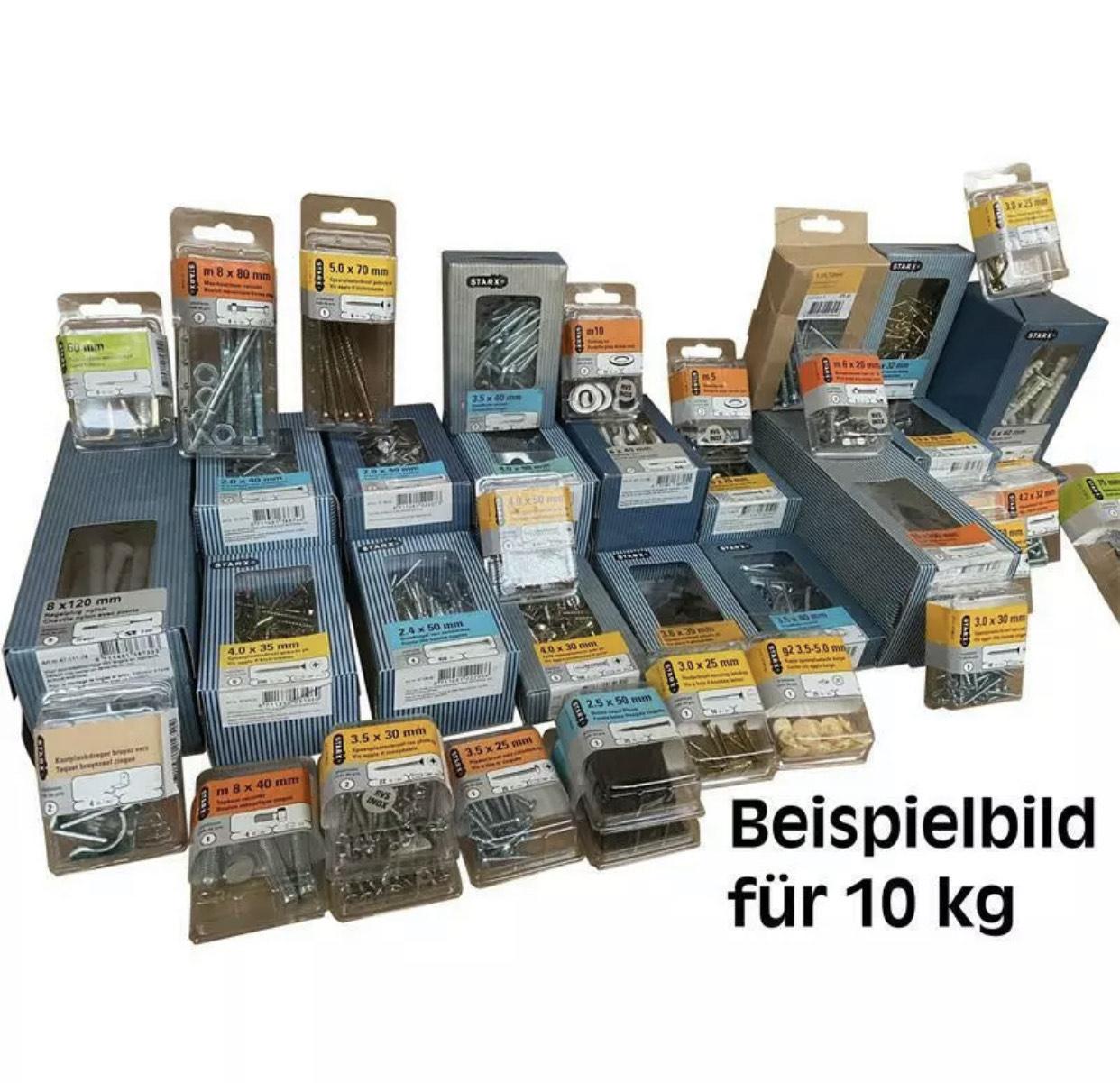 10 kg Schrauben Sechskantschrauben Nägel Spannplattenschrauben Posten Restposten