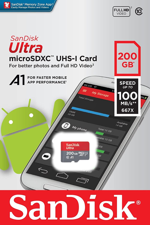 Speicherkarten-Sammeldeal: z.B. SanDisk Ultra microSDXC 200GB für 20€ | 400GB für 42€ | Extreme 128GB für 19€