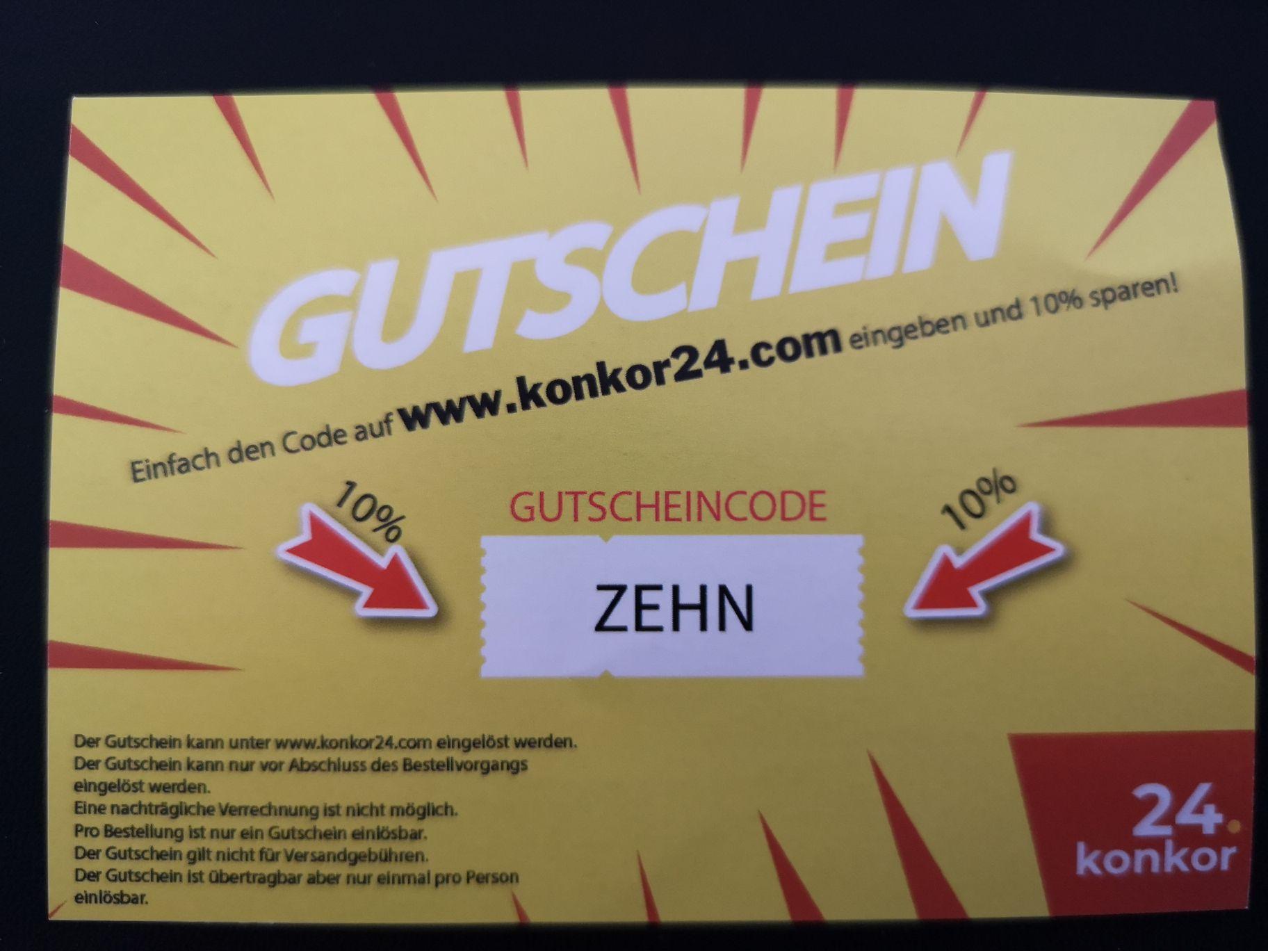 10% Gutschein für www.konkor24.com