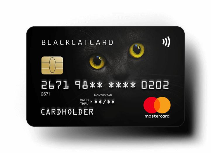 BlackCatCard: 40€+40€ KwK Aktion ohne Einzahlung - kostenlose Prepaid Mastercard