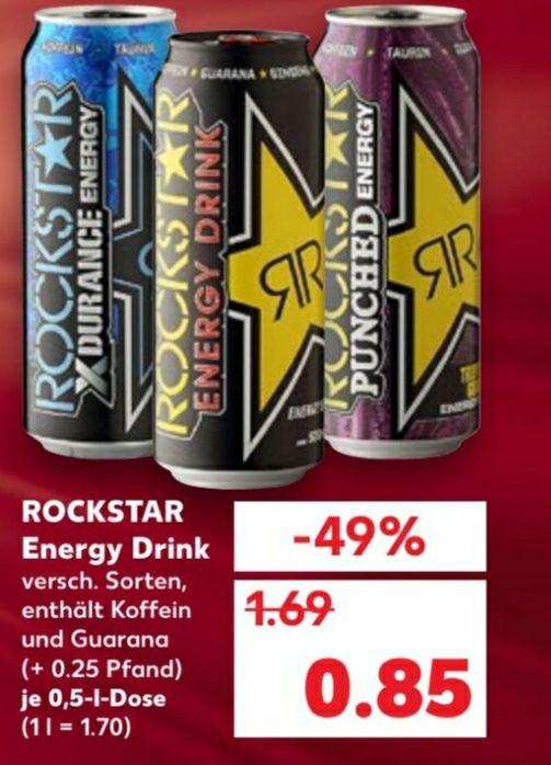 3x Rockstar Energy +1x Lays für Effektiv 2.04€ bei Kaufland.