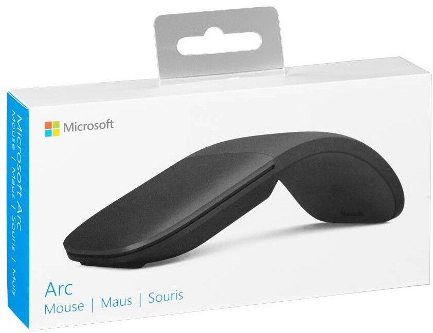 Microsoft Surface Arc Mouse - Kabellose Maus (2,4 GHz, Bluetooth, ergonomisch, faltbar & drehbar, Touch-Tasten, Touchscroll)