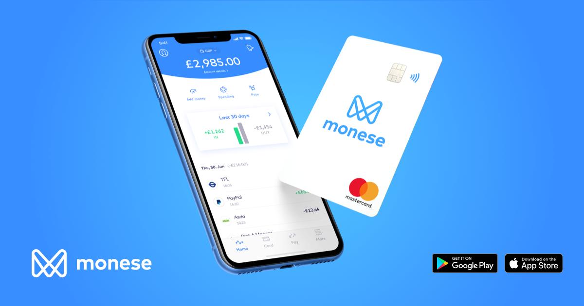 (personalisiert) 5€ Bonus bei Monese für die ersten 8.000 Kunden