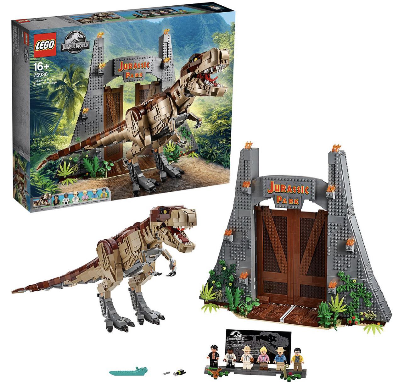 LEGO Jurassic World 75936 Jurassic Park - T-Rex' Verwüstung