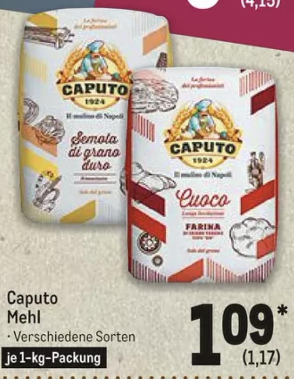 Caputo Mehl verschiedene Sorten zb .Antimo Caputo Type 00 'The Chef's Flour' Pizzamehl - Metro