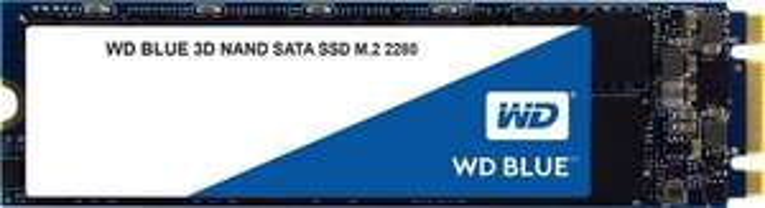Western Digital WD Blue 3D NAND SATA SSD 500GB (M.2, SATA, 3D-NAND TLC, R560MB/s, W530MB/s, 512MB DDR3L- u. SLC-Cache, 200TBW / 5J Garantie)
