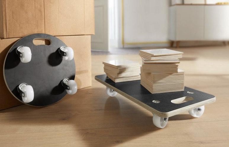 (Lokal) LIDL PARKSIDE® Universal Transporthilfen, 250 kg Tragkraft, Form: eckig und rund
