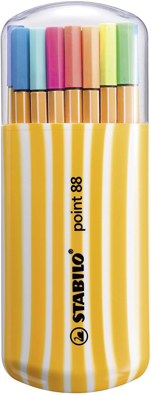 [Amazon Prime] Fineliner - STABILO 8820-022 point 88 - 20er Pack Zebrui - 20 verschiedene Farben inkl. 5 Neonfarben