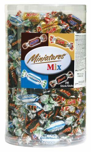 Amazon Twix Snickers Bounty Mars mini Celebrations 3kg Blisterbox - im Sparabo 19,46€ Süßigkeiten