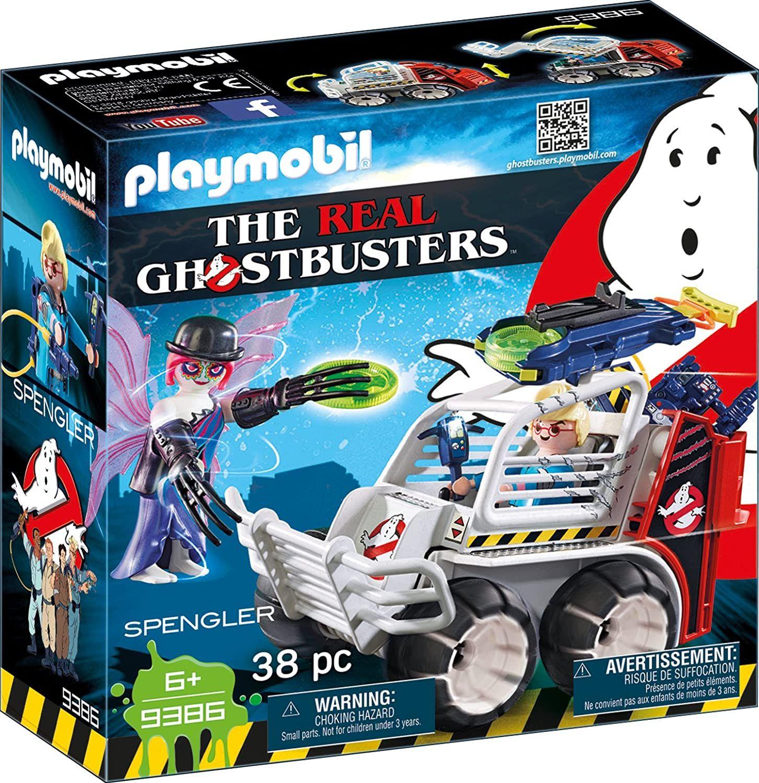 [Prime] Playmobil Ghostbusters 9386 Spengler mit Käfigfahrzeug und Disc-Shooter, Ab 6 Jahren (38 Teile)