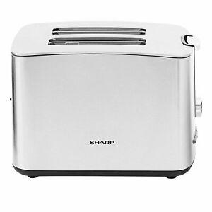 Sharp SA-CT2002I Toaster 2-Schlitz-Toaster 7 Bräunungsstufen Auftauen Edelstahl