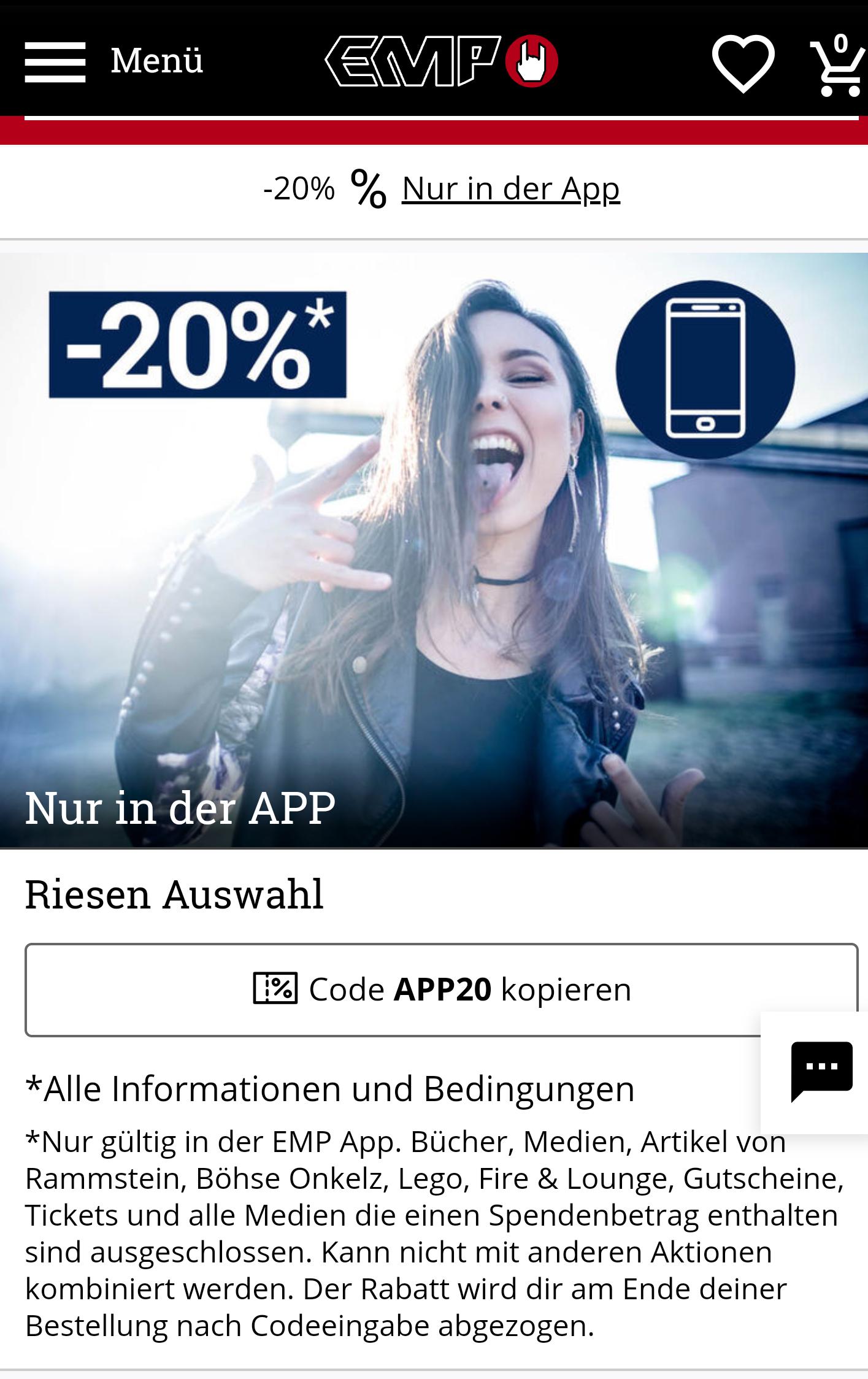 [EMP/App] Alle Monate wieder.. 20% auf fast Alles