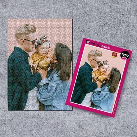 Valentinstagsvorsorge: Puzzle mit eigenem Foto - 1000 Teile (68 x 48 cm) 21,90€ // 500 Teile (48 x 34 cm) 19,42€