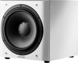Dynaudio Sub 3 weiß (300W, 22-175Hz, Frontfire, geschlossen, Cinch LFE & 2x Cinch Stereo In, Cinch Slave & 2x Cinch SAT Out, 350x420x370mm)
