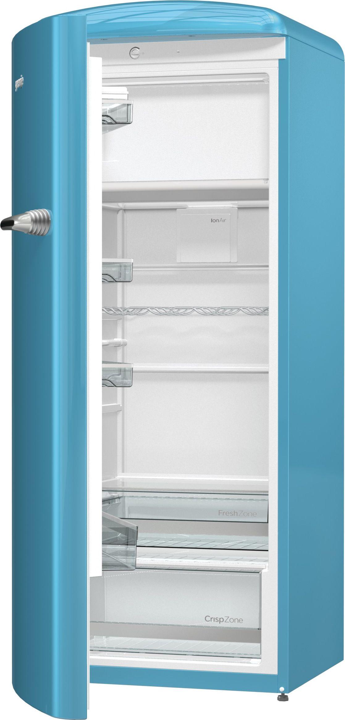 Gorenje ORB153BL-L Kühlschrank blau (A+++, 229l Kühlen, 25l Gefrieren, FreshZone, CrispZone, Flaschenablage, 1540x600x669mm)