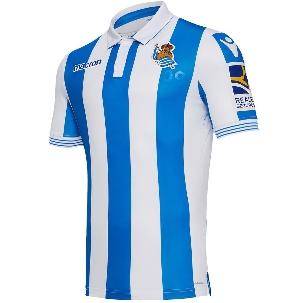 MACRON Real Sociedad Herren Authentic Heim Trikot Fußball nur 19,99€ statt 89,99€ Größen S bis XL (SportSpar)