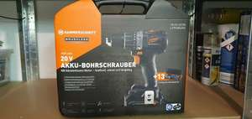 Hammerschmitt Brushless Akku Schrauber 20V + 13-teiliges Bohrer Set